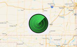 mapa y logo en buscar mi iphone